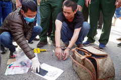 Border guards discover heroin traffickers