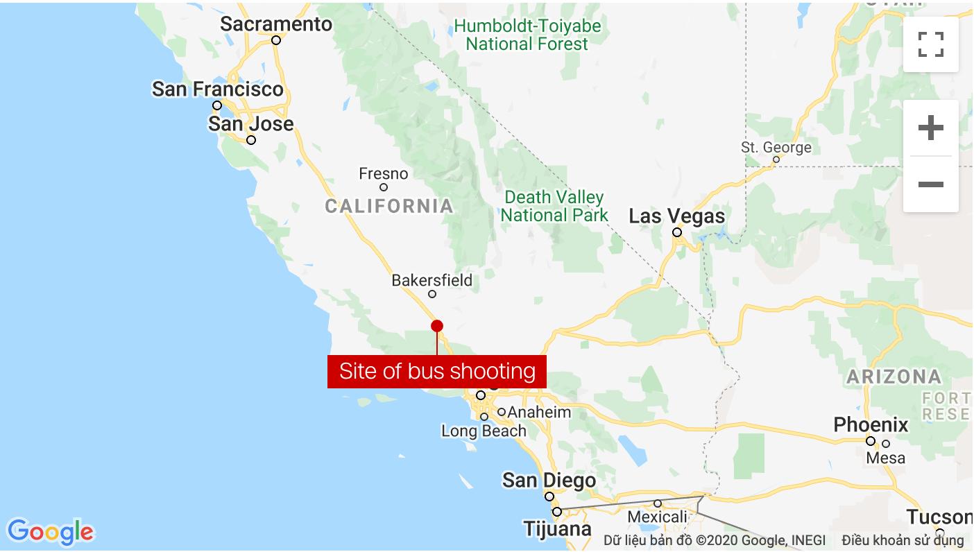 Sáu người bị bắn trên xe khách tại Mỹ