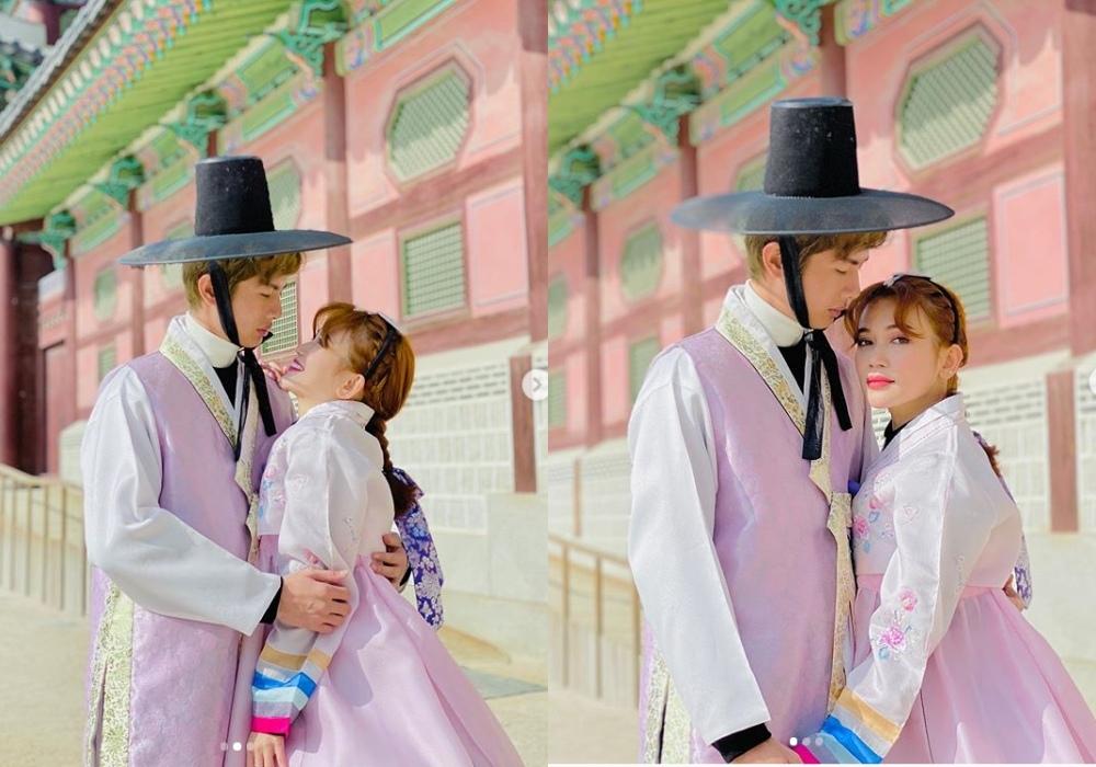 Hari Won hôn Trấn Thành giữa trời tuyết rơi, mừng sinh nhật chồng