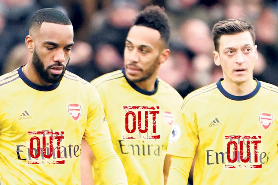 Arsenal thanh trừng hàng loạt, Ozil và Aubameyang ra đường