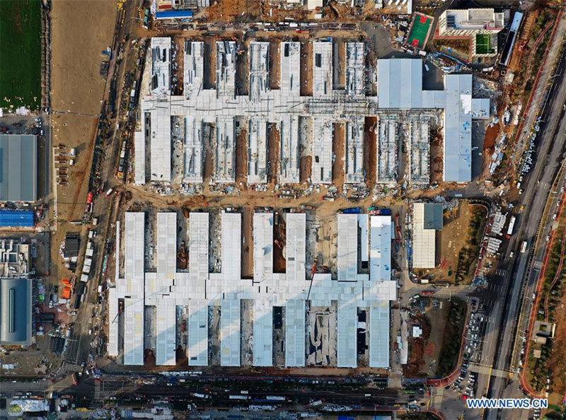 Xem TQ cấp tập xây bệnh viện Lôi Thần Sơn trị virus corona