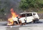 2 người chết trong xế hộp bốc cháy ở Quảng Nam là vợ chồng