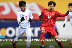 Video bàn thắng nữ Việt Nam 1-0 nữ Myanmar