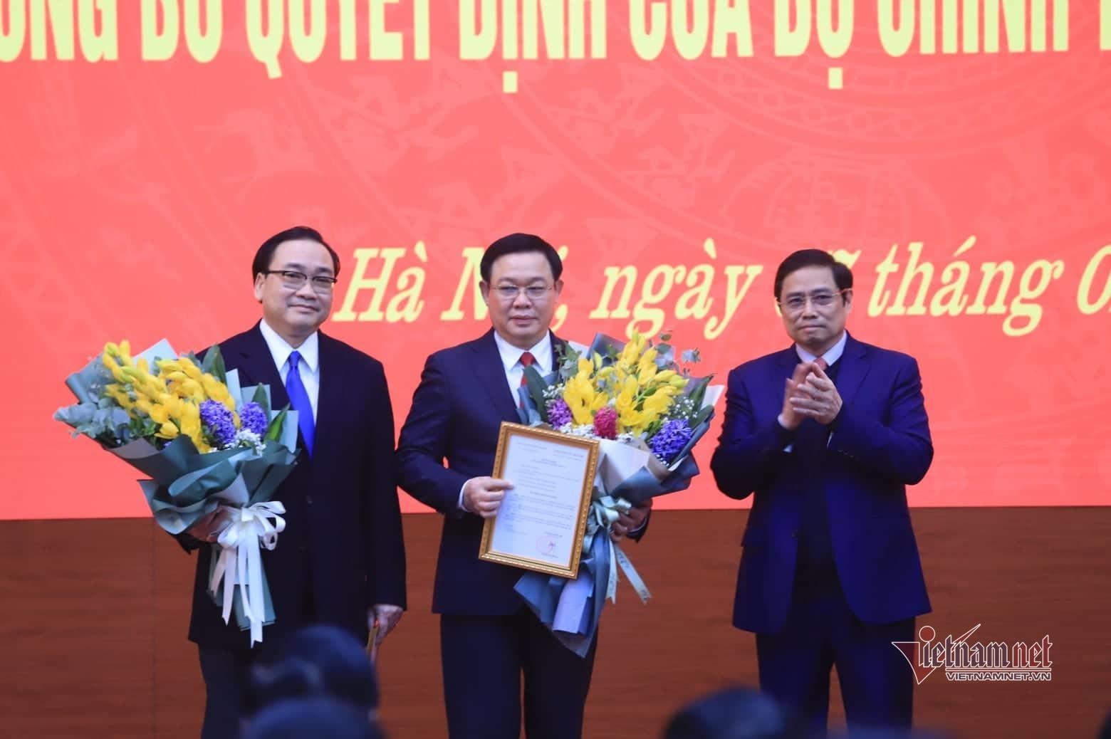 Ông Vương Đình Huệ làm Bí thư Thành ủy Hà Nội