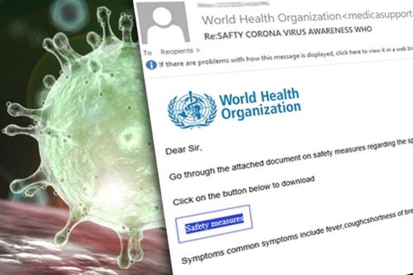 Chiếm quyền điều khiển web bằng mã độc giả mạo thông tin virus Corona