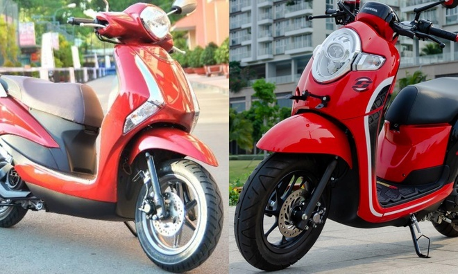 Xe tay ga nữ giá 40 triệu: Chọn Yamaha Latte hay Honda Scoopy?