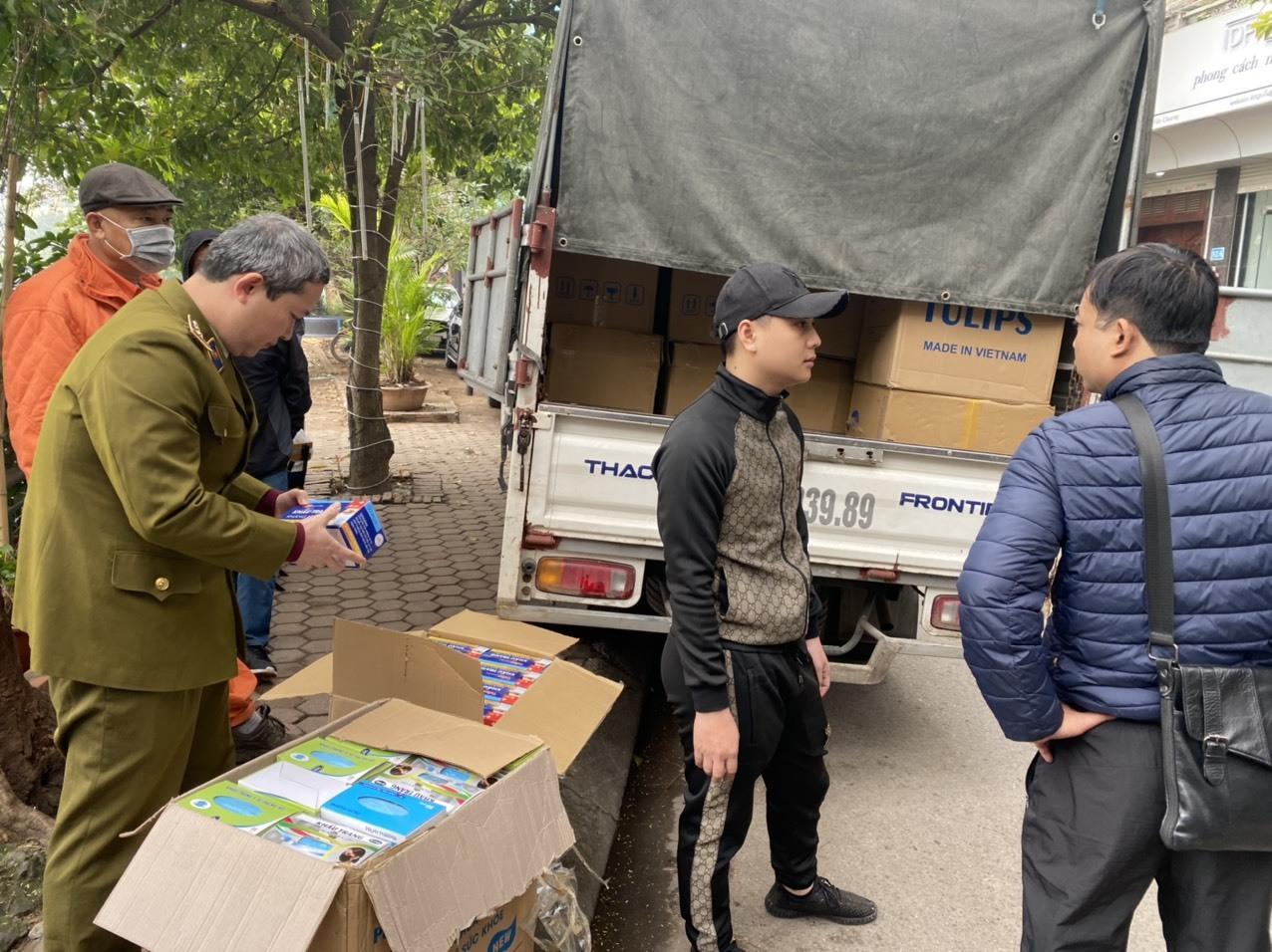 Tịch thu lô khẩu trang trị giá hơn 1 tỷ đồng bên hồ Văn Chương