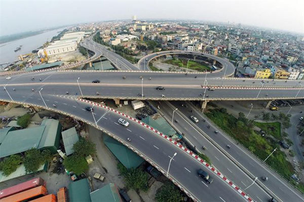 Vinh Tuy Bridge 2,build,Red River,the Belt Road No 2 of the capital city