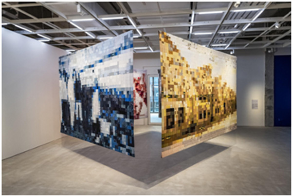 Exhibition,artist Vo Tran Chau,art made from old cloth