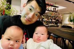 Trương Nam Thành khoe 2 con bụ bẫm tròn 6 tháng tuổi