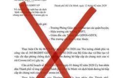 Giám đốc Sở GD-ĐT TP.HCM chỉ đạo khẩn trước văn bản cho nghỉ học tới 21/2