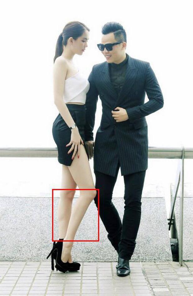 Ngọc Trinh bị 'bóc' chỉnh sửa ảnh đến mức chân như dị dạng