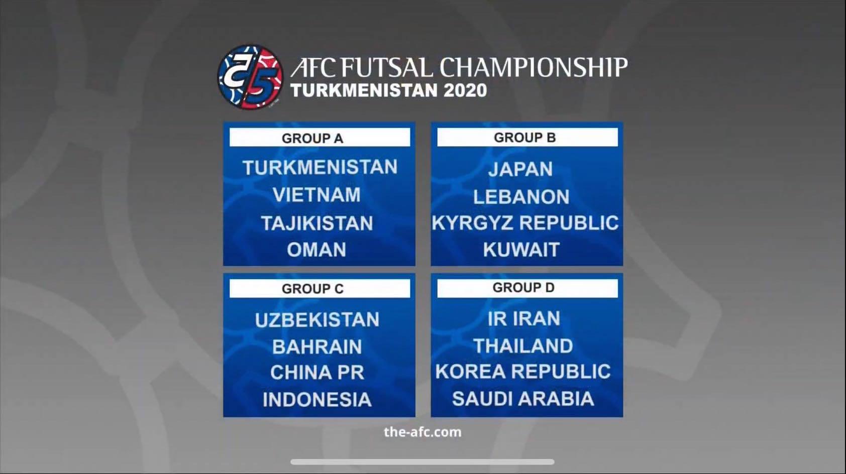 Lịch thi đấu của ĐT Futsal Việt Nam tại VCK Futsal châu Á 2020
