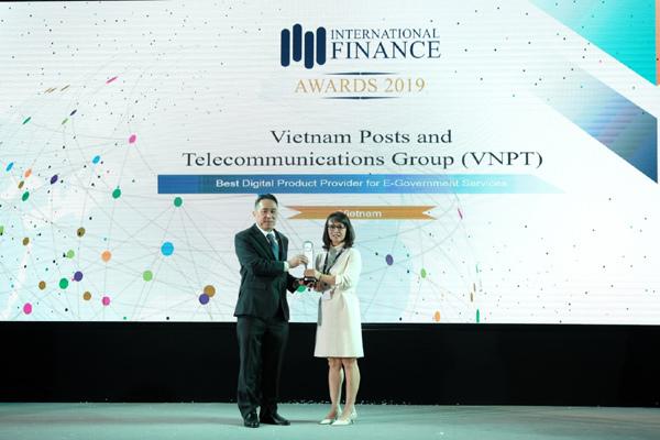 VNPT nhận cú đúp giải thưởng lĩnh vực số ở IFM 2019