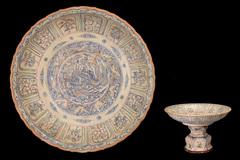Chiêm ngưỡng Mâm bồng gốm men vẽ nhiều màu vừa được công nhận là bảo vật quốc gia