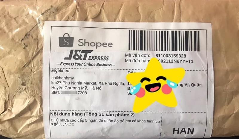 Mua tủ nhựa cả triệu đồng trên Shopee, khách hàng nhận về... phong bì rách