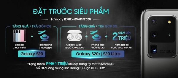 Đặt trước Samsung Galaxy S20 series, nhận ưu đãi tới 6,5 triệu đồng