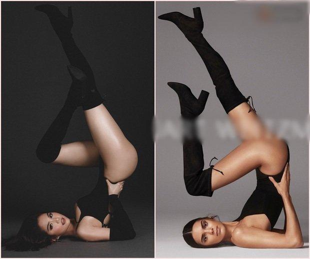Ngọc Trinh tiếp tục bị tố bắt chước Kendall Jenner trong loạt ảnh gợi cảm mới