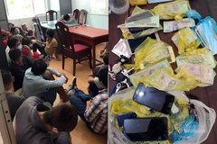 Triệt phá trường gà trong rừng ở Bình Thuận, bắt giữ 22 người