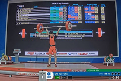 Lifter Tung wins big, sets world record at Asian championships