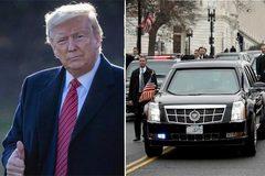 """Ông Trump ngồi xe """"Quái thú"""" dạo quanh đường đua danh giá nhất Mỹ"""