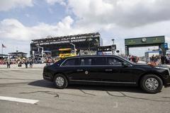 Chi tiết về 'quái thú' của Tổng thống Trump trên đường đua Daytona 500