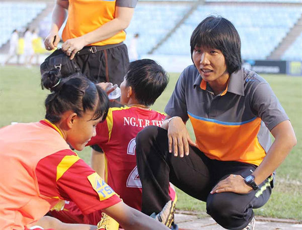 HCM City,women's football,coach Doan Thi Kim Chi,striker Huynh Nhu,Southeast Asian Games titles
