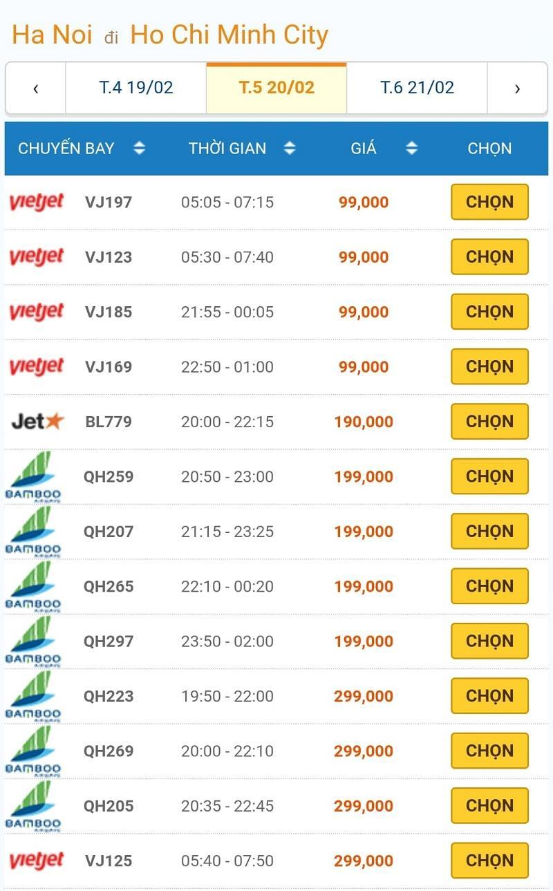 Giá vé máy bay đồng loạt giảm kỷ lục, Hà Nội - TP.HCM chỉ còn 199 ngàn