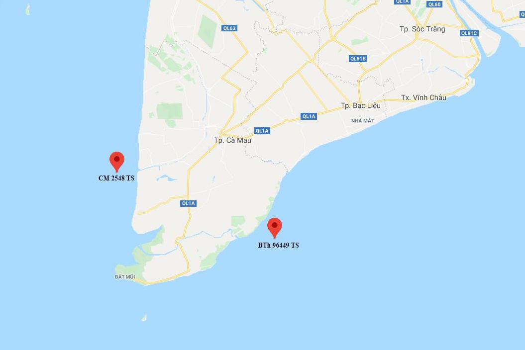 Chìm tàu trên biển Cà Mau, 5 ngư dân mất tích