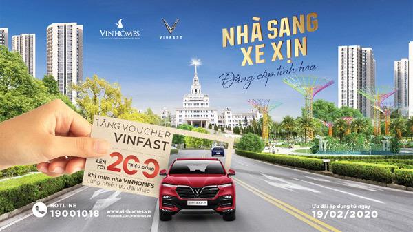 Mua nhà Vinhomes, nhận voucher mua xe VinFast lên tới 200 triệu đồng
