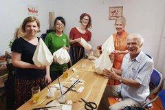 Workshop on making lanterns from Do paper
