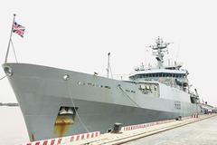 Tàu hải quân hơn 3.000 tấn Hoàng gia Anh thăm Hải Phòng