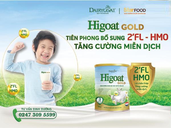 HiGoat Gold 3 tiên phong bổ sung dưỡng chất quý 2'FL-HMO