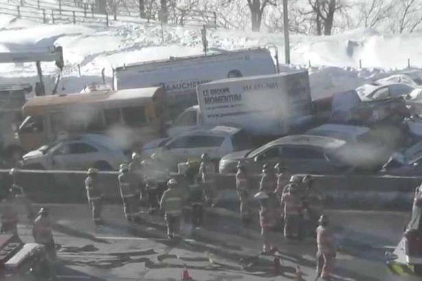 đâm xe,tai nạn,Canada,Quebec,Montreal,cao tốc,đâm xe liên hoàn,tai nạn giao thông