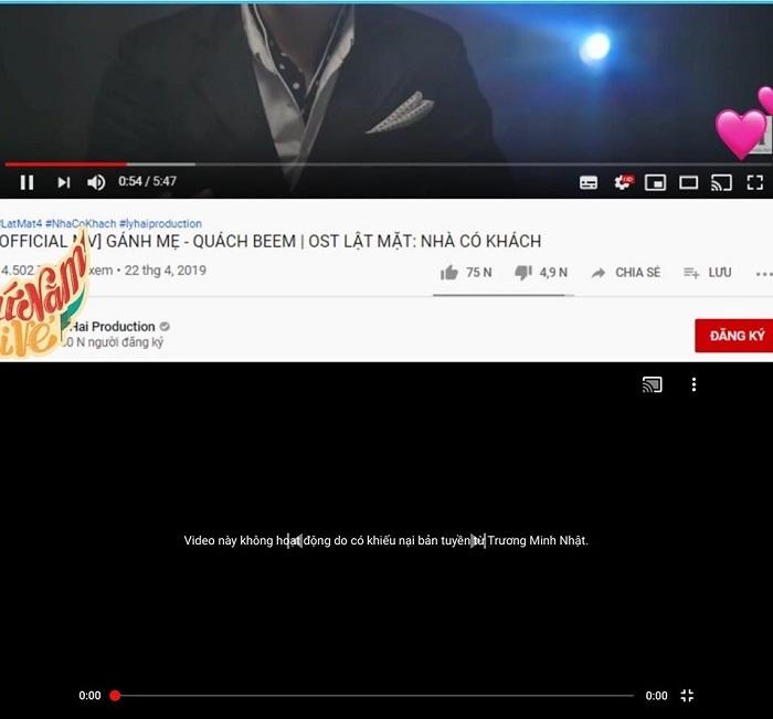 Youtube tạm khóa MV 'Gánh mẹ'  vì tranh chấp bản quyền