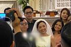 Ảnh Tóc Tiên và Hoàng Touliver trong hôn lễ ở nhà thờ
