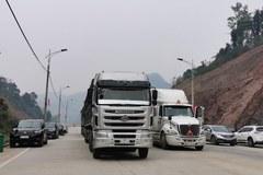 Hàng ngàn xe hàng hoá đã thông quan qua Trung Quốc