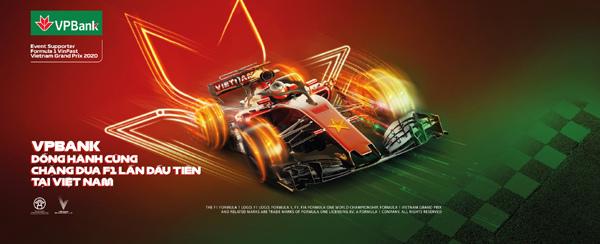 VPBank tặng 45 cặp vé xem giải đua xe F1 Việt Nam Grand Prix