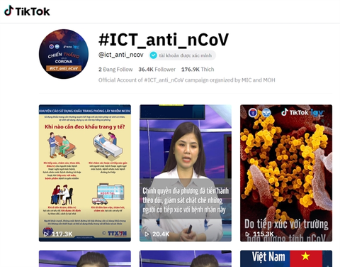 VN ministries set up TikTok account about COVID-19