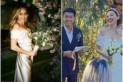 Tóc Tiên và Miley Cyrus cùng diện váy cưới 200 triệu