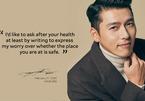 Hyun Bin viết thư cho người hâm mộ bằng 4 thứ tiếng