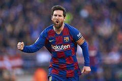 Messi ghi poker, Barca chiếm ngôi đầu của Real