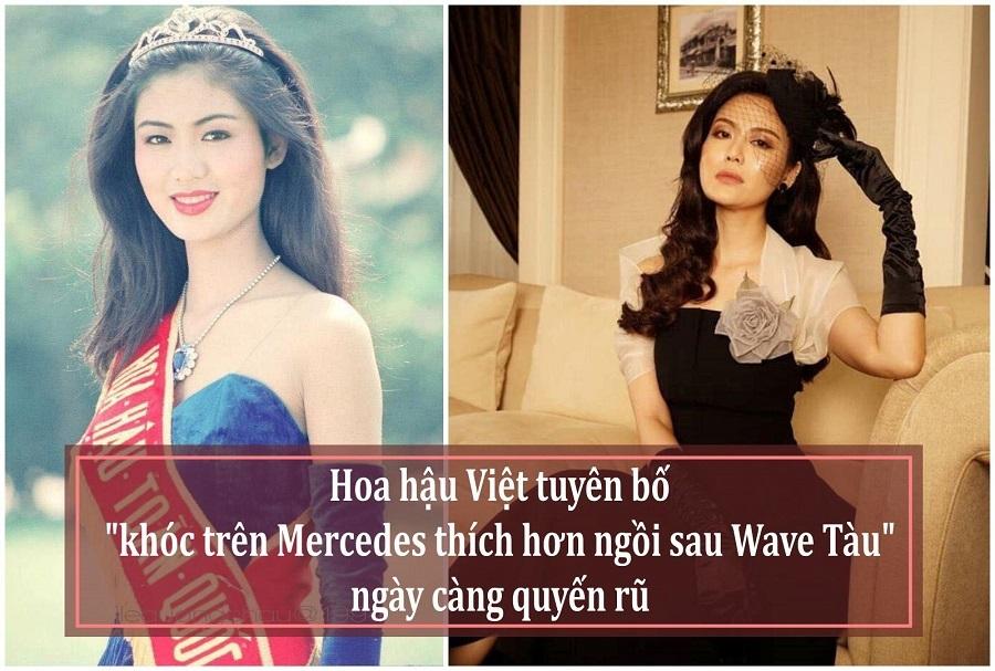 Hoa hậu tuyên bố 'khóc trên Mercedes thích hơn Wave Tàu' ngày càng quyến rũ