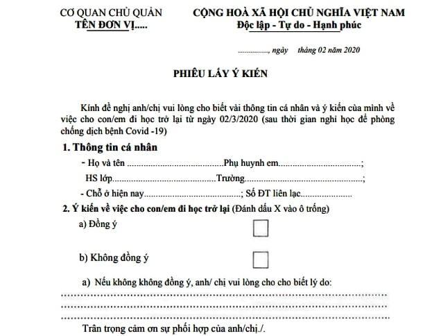 Quảng Nam hỏi ý kiến phụ huynh về thời điểm đi học trở lại