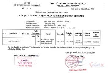 Ho sốt sau khi quá cảnh tại Hàn Quốc về Việt Nam, cụ bà âm tính Covid-19