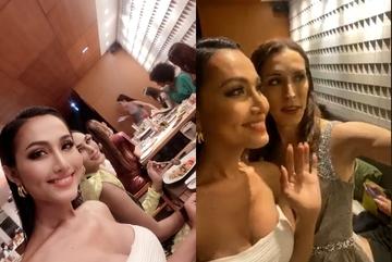 Hoài Sa khoe ngực sexy bên dàn người đẹp ở Hoa hậu chuyển giới
