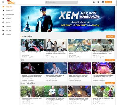 Nền tảng video trực tuyến MeClip hấp dẫn người xem