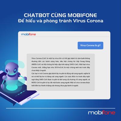 Chatbot cùng MobiFone để phòng tránh virus Corona