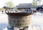 Nguyen-dynasty bronze cauldrons in Hue Imperial Citadel