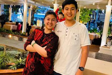 Con trai 13 tuổi cao 1m76 của Kim Thư và Phước Sang